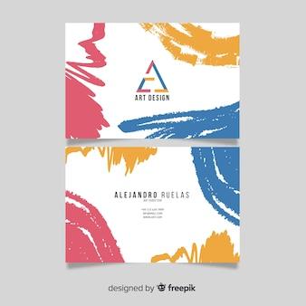 Handgemaltes abstraktes design der visitenkarte