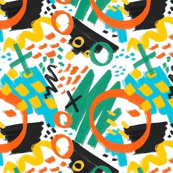 Handgemaltes abstraktes malereimusterdesign