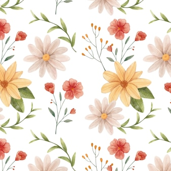 Handgemaltes aquarell botanisches musterdesign