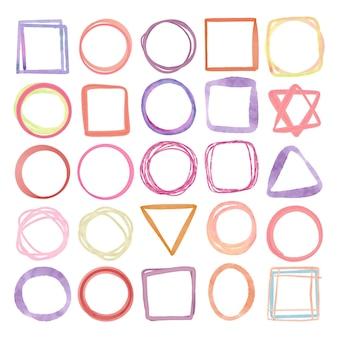 Handgemaltes doodle-rahmenpaket