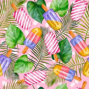 Handgemaltes tropisches sommermuster