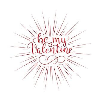 Handgeschriebene vintage st. valentinskarte - mit handgemachter kalligraphie