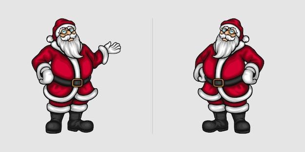 Handgesten des weihnachtsmannes für weihnachtswerbung und -grüße