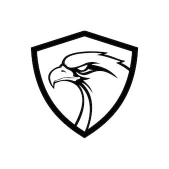 Handgezeichnet von eagle head eagle maskottchen für t-shirt sportbekleidung logo