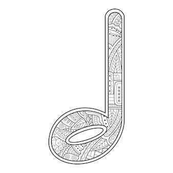 Handgezeichnet von musiknoten im zentangle-stil