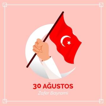 Handgezeichnete 30 agustos illustration