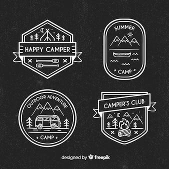 Handgezeichnete abenteuer logosammlung