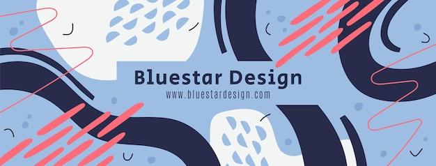 Handgezeichnete abstrakte formen facebook-cover Kostenlosen Vektoren