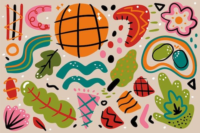 Handgezeichnete abstrakte formen hintergrund