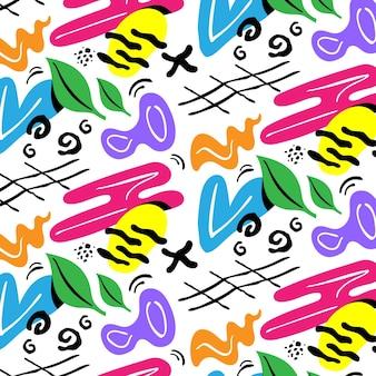 Handgezeichnete abstrakte formen musterdesign