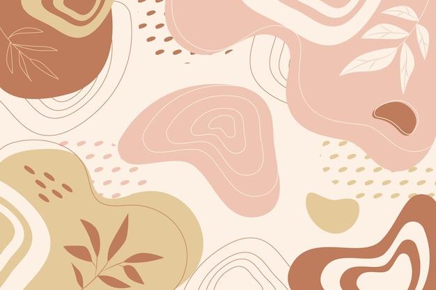 Handgezeichnete abstrakte formen tapete
