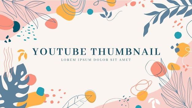 Handgezeichnete abstrakte formen youtube thumbnail