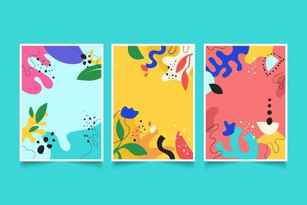 Handgezeichnete abstrakte formenabdeckungen