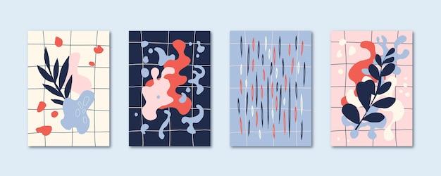Handgezeichnete abstrakte kunst deckt sammlung