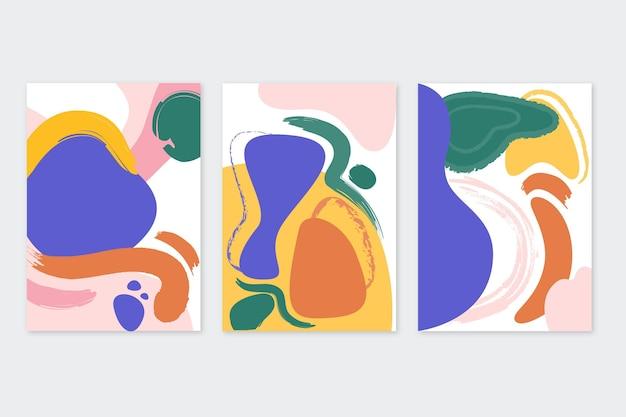 Handgezeichnete abstrakte kunstcover-sammlung