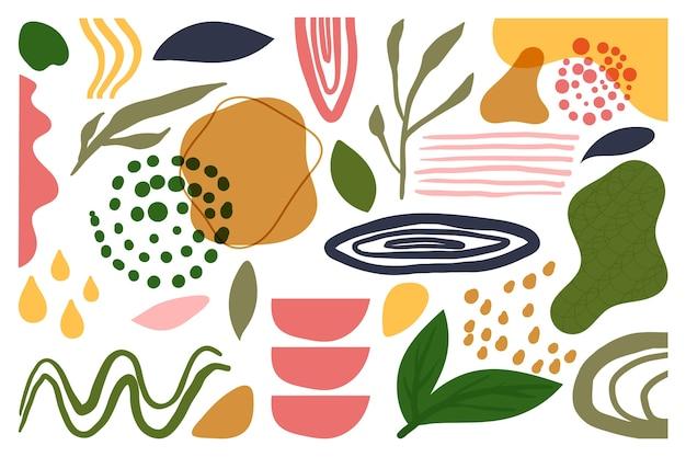 Handgezeichnete abstrakte organische formen bildschirmschoner