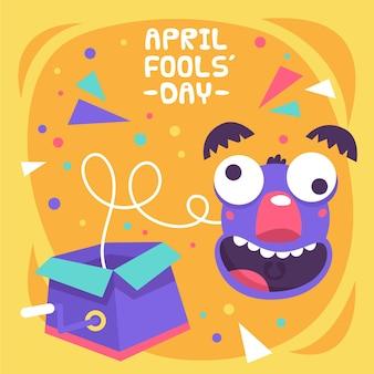 Handgezeichnete aprilscherz-tagesillustration