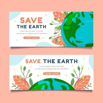 Handgezeichnete banner zum klimawandel