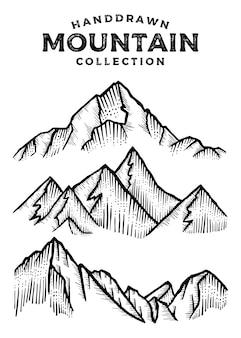 Handgezeichnete bergsammlung