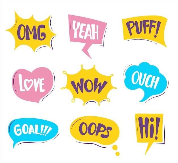 Handgezeichnete blasen-chat-sammlung