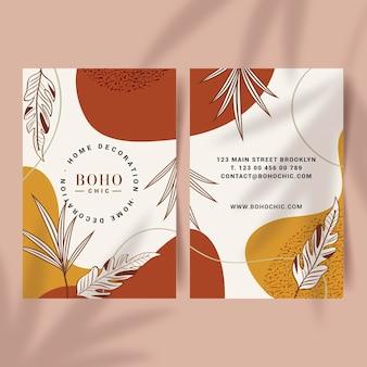 Handgezeichnete boho-visitenkarte