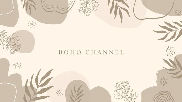 Handgezeichnete boho-youtube-kanalkunst