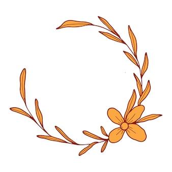 Handgezeichnete botanische kranzblume