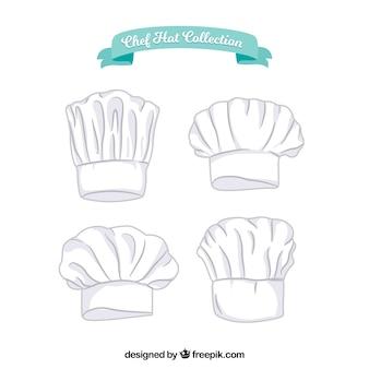 Handgezeichnete chefhut-kollektion