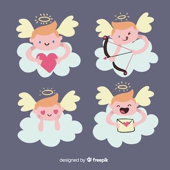Handgezeichnete cupid charakter sammlung