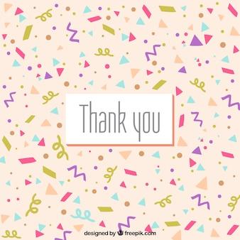 Handgezeichnete danke-komposition mit konfetti