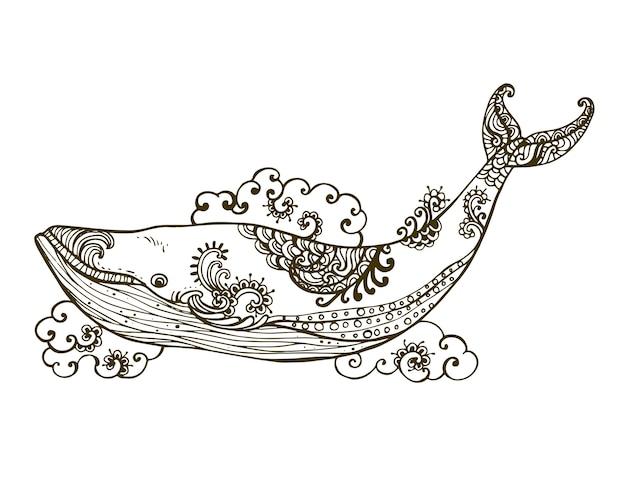 Handgezeichnete dekorative in hohem grade ausführliche zusammenfassung.