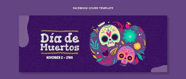 Handgezeichnete dia de muertos social media cover vorlage