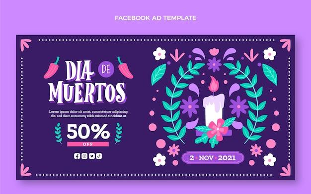 Handgezeichnete dia de muertos social media promo-vorlage