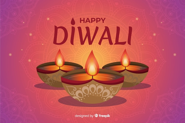 Handgezeichnete diwali festival tapete