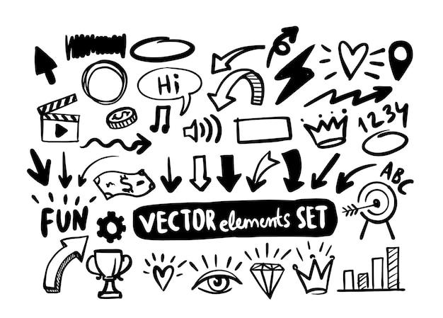 Handgezeichnete doodle-design-elemente