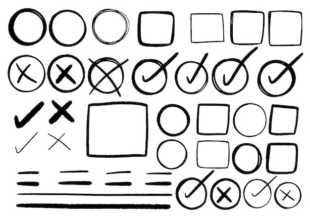 Handgezeichnete doodle-design-grafikelemente. handgezeichnete pfeilkreise und abstraktes doodle-schreibdesign. weißer hintergrund.