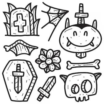 Handgezeichnete doodle tattoo designs