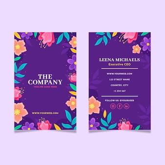 Handgezeichnete doppelseitige visitenkarte