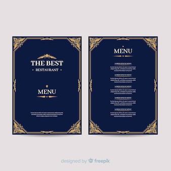 Handgezeichnete elegante menüvorlage
