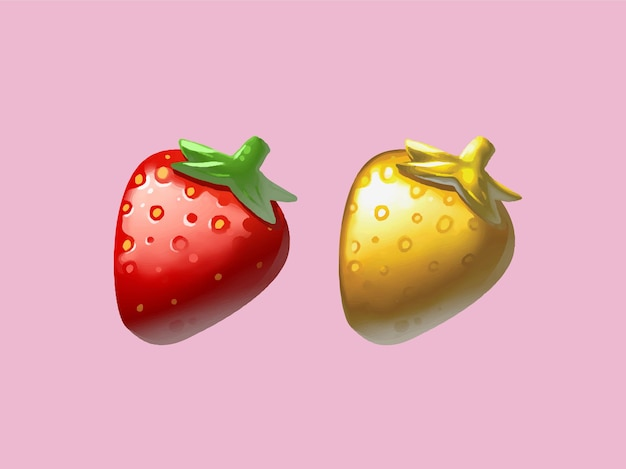 Handgezeichnete erdbeeren