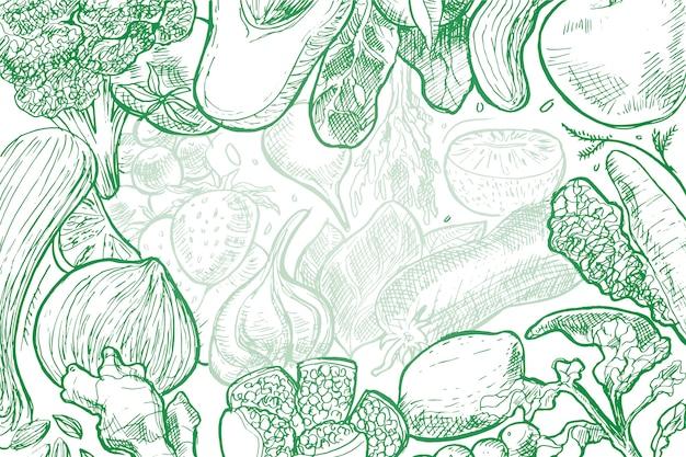 Handgezeichnete essen hintergrund