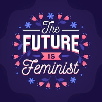 Handgezeichnete feministische schrift