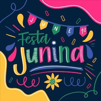 Handgezeichnete festa junina