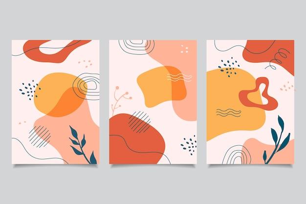 Handgezeichnete flache abstrakte formen deckt packung