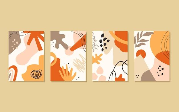 Handgezeichnete flache abstrakte formen deckt sammlung ab
