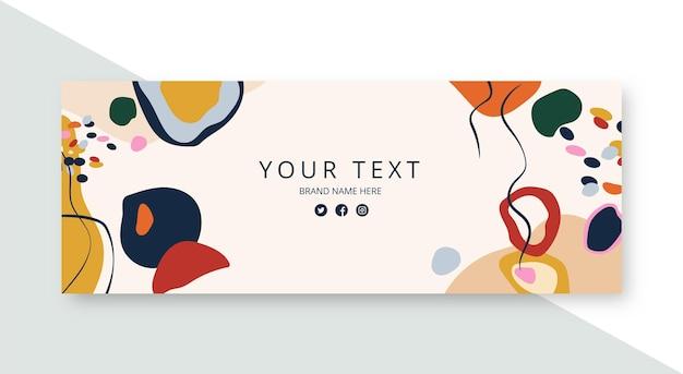 Handgezeichnete flache abstrakte formen facebook-cover Kostenlosen Vektoren