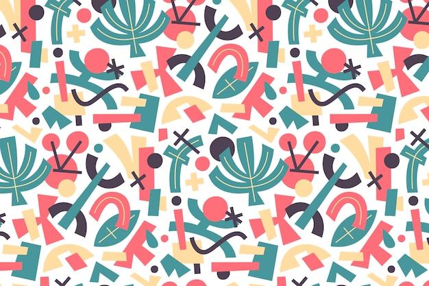 Handgezeichnete flache abstrakte formen musterdesign