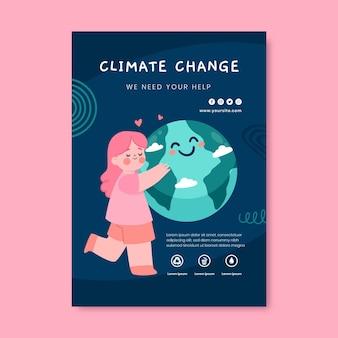 Handgezeichnete flyer zum klimawandel