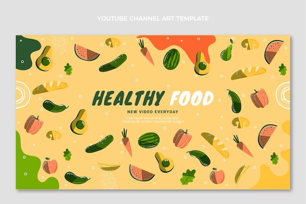 Handgezeichnete food-youtube-kanalkunst
