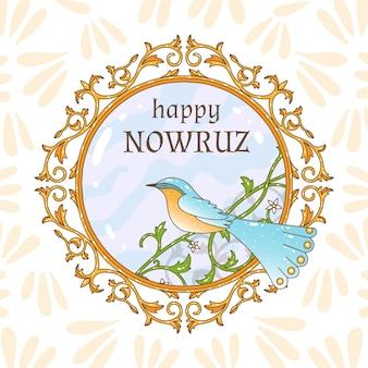Handgezeichnete fröhliche nowruz-tagesfeier